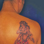 shoulder red heart - Fairy Tattoos