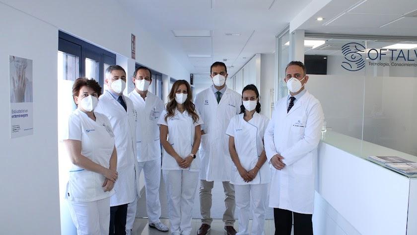Equipo médico del Grupo Oftalvist Almería.
