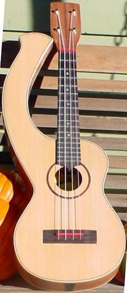 Geoff Davies Hoosier Maid Harp Ukulele