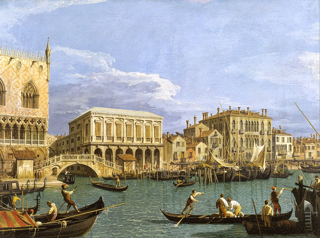 Canaletto - View of the Riva degli Schiavoni, Venice