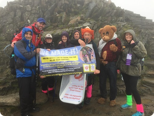 Roy Price - Ian Jones and support crew at the top of Snowdon