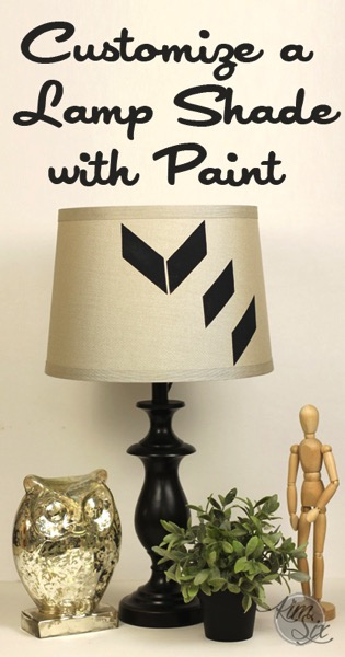 Customize a Lamp Shade with Paint