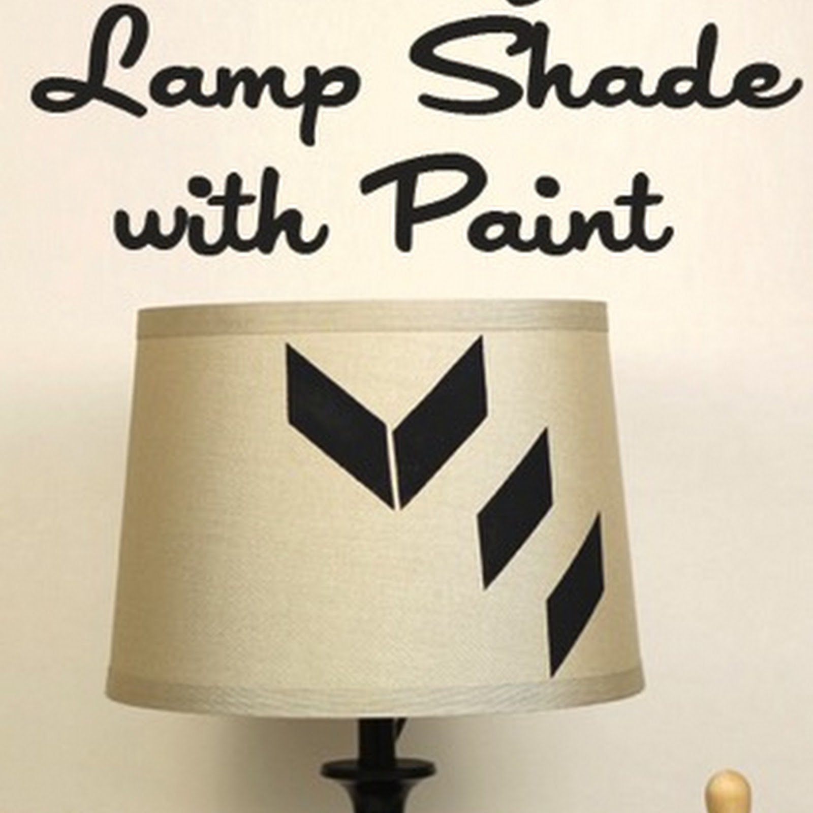 How to Customize A Lampshade with Paint