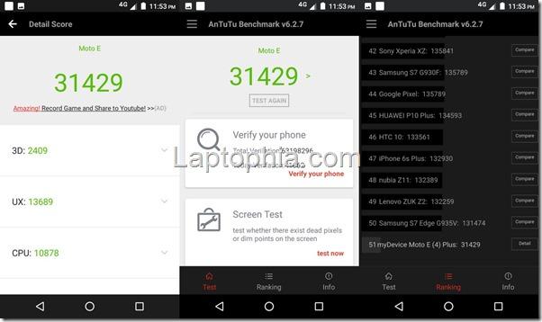 Benchmark AnTuTu v6 Motorola Moto E4 Plus