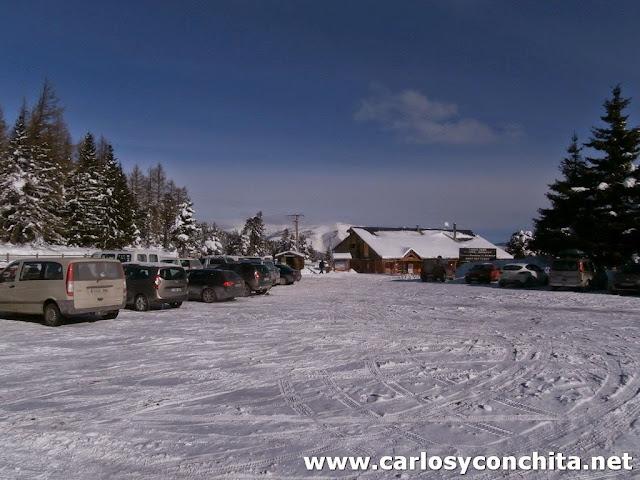 El parking del Coll de la Llosa