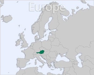 Austria location map