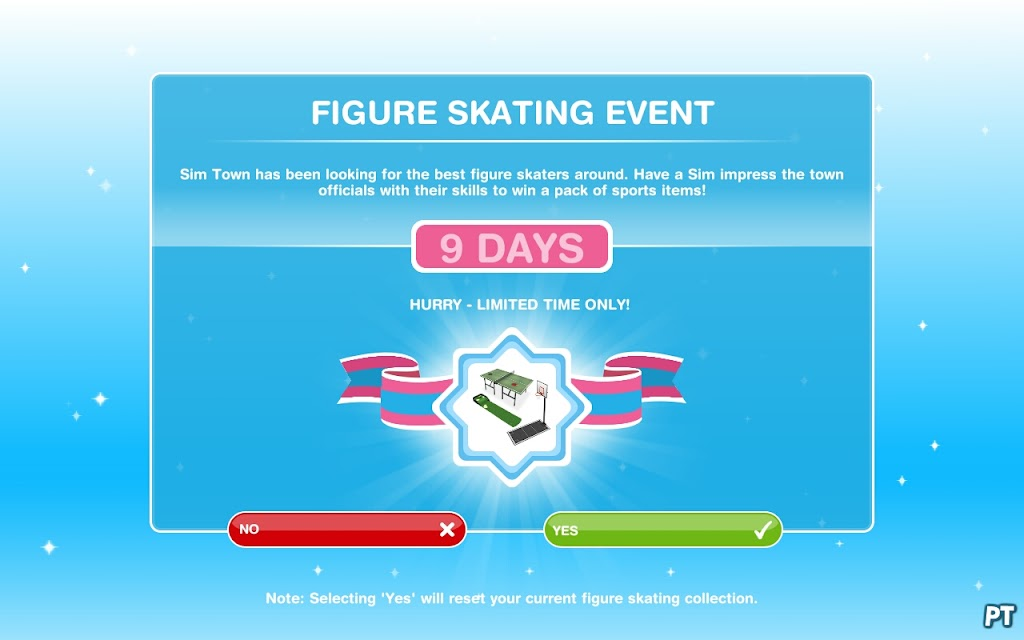 The Sims FreePlay Figure Skating Event
