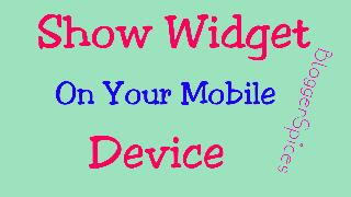 Show Widget On Mobile Devices