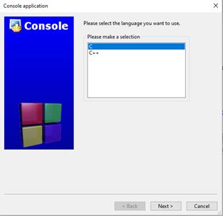 Cửa sổ lựa chọn ngôn ngữ lập trình - tinhoccoban.net