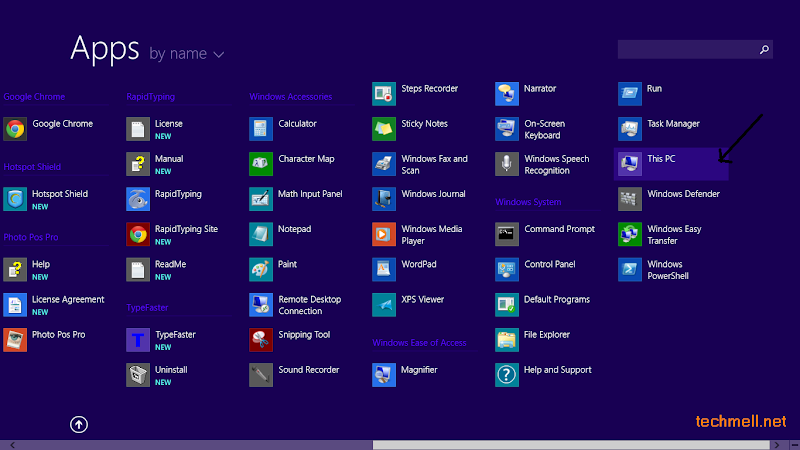 This PC app in Windows 8.1