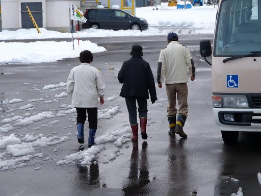 道路には雪が・・・