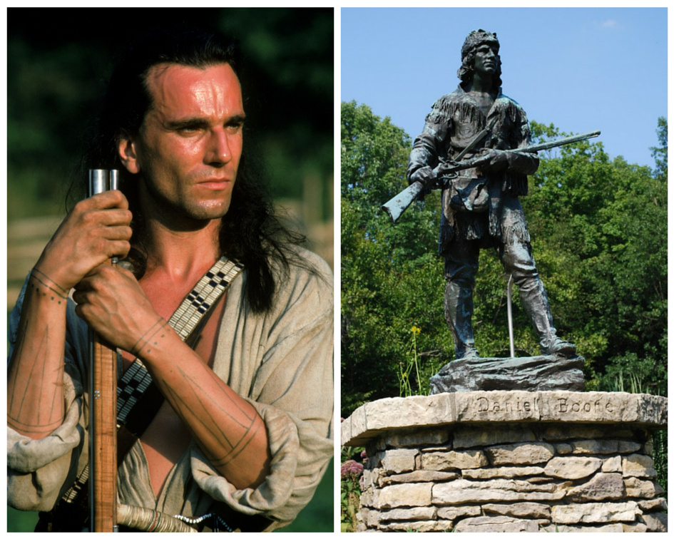 Actor Daniel Day-Lewis trained hard to learn frontiersman skills like those of Daniel Boone.