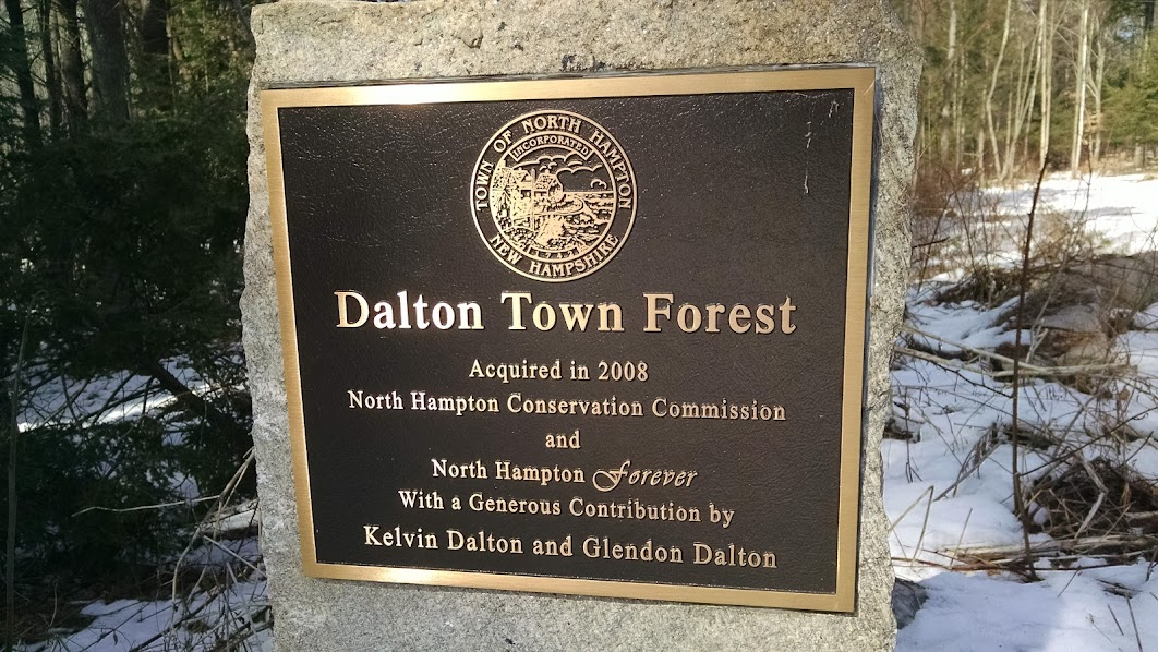 Dalton Town Forest Trail Map - North Hampton, NH