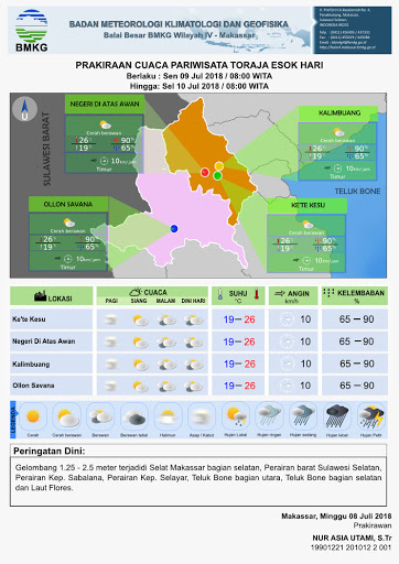 Cuaca Cerah, Saat yang Tepat Untuk Berwisata diempat Destinasi Toraja