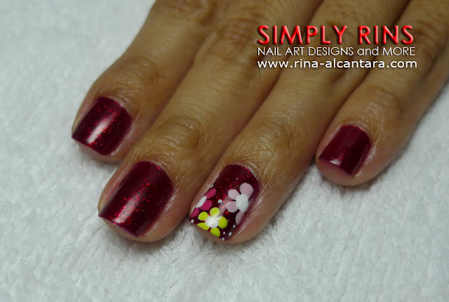 red nail art design 02