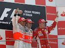 2007 F1 of Italy podium: 1. Alonso, 2. Hamilton, 3. Raikkonen