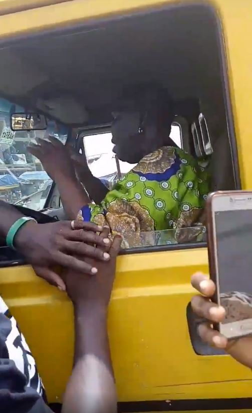 Woman Hijacks Commercial Bus From Lagos Driver (Video, Photo)