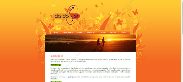 Tela do site Cia do Ser