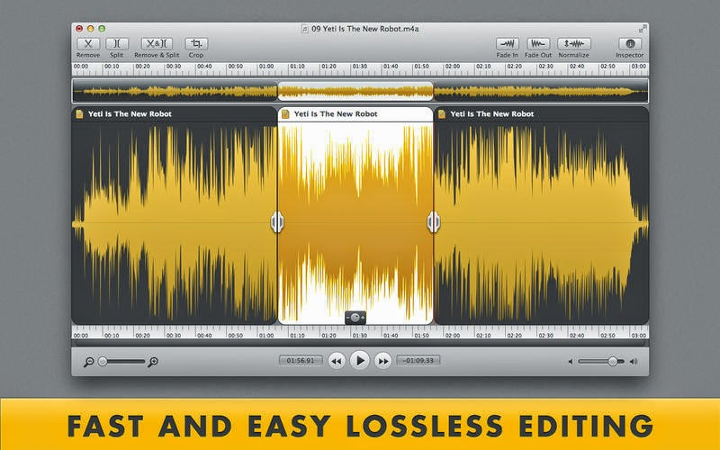 Crop, Trim, Convert & Join Audio Files With Fission App