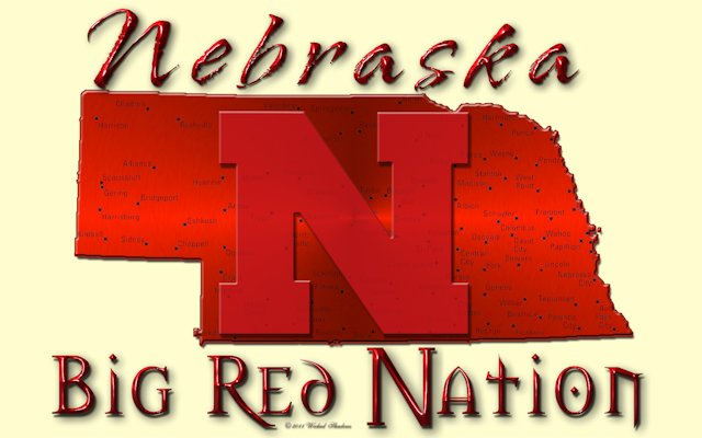 Nebraska cornhuskers Big Red Nation Cream Wallpaper