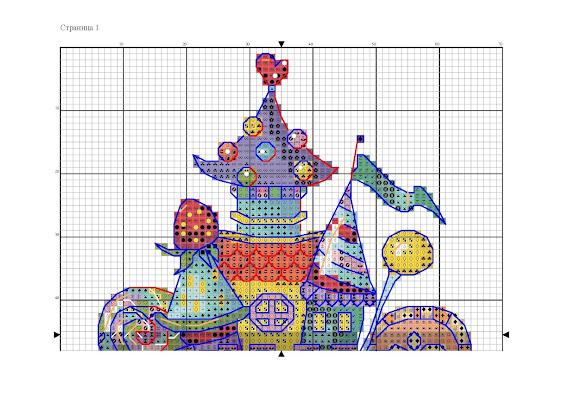 castello delle favole a punto croce-schema gratuito