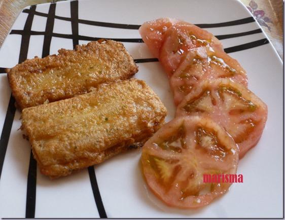 pencas de acelga rellenas y fritas,racion copia