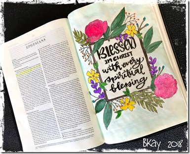 Bible Art Interleaved Eph 1-3