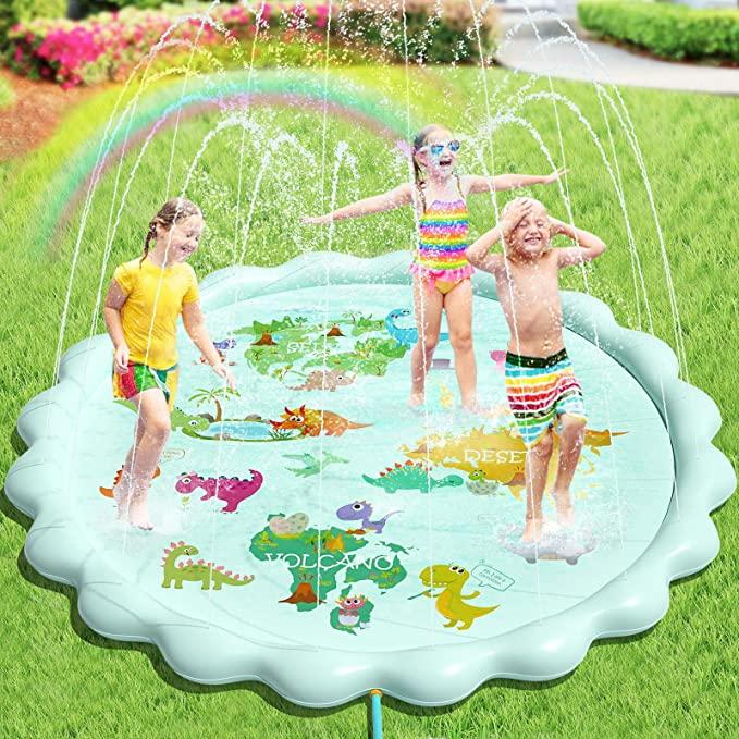 water play amazon splash pad