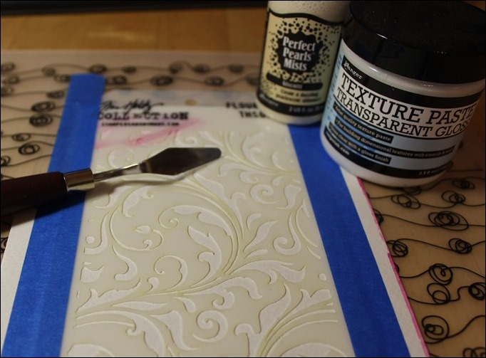 Embossing Paste Perfect Pearls Distress Ink Tim Holtz Stencil Stampin Up Love you Lots Frog Card 00