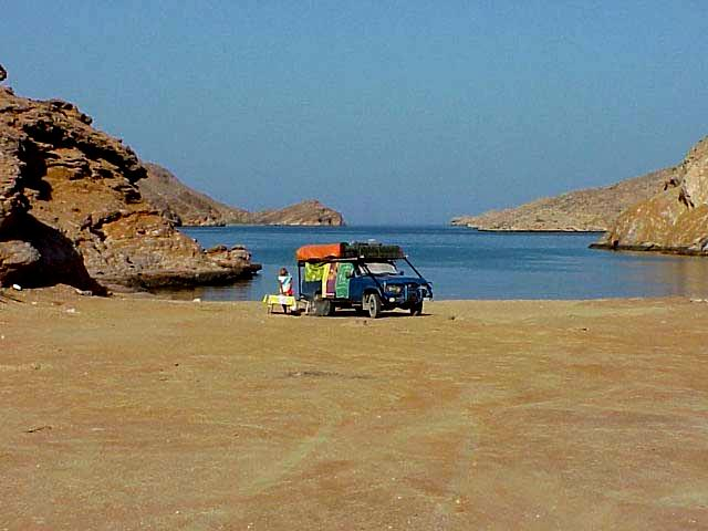 Oman - seaside camping (photo credit: National Geographic)