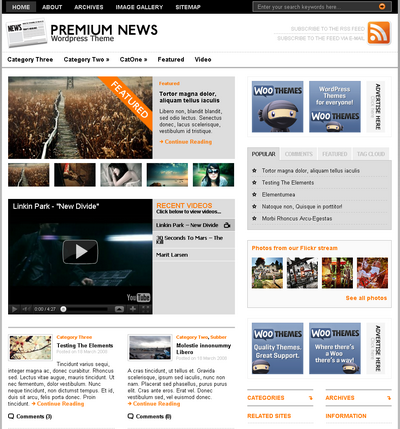 Premium News – by WooThemes