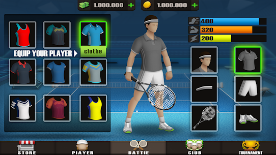 Pocket Tennis League MOD (Unlimited Gold Coins) 8