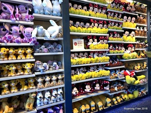 Wall of plush animals