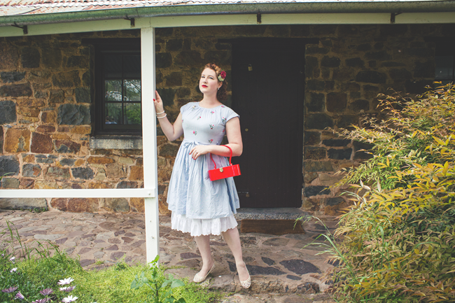 1950's Swirl dress and vintage style | Lavender & Twill