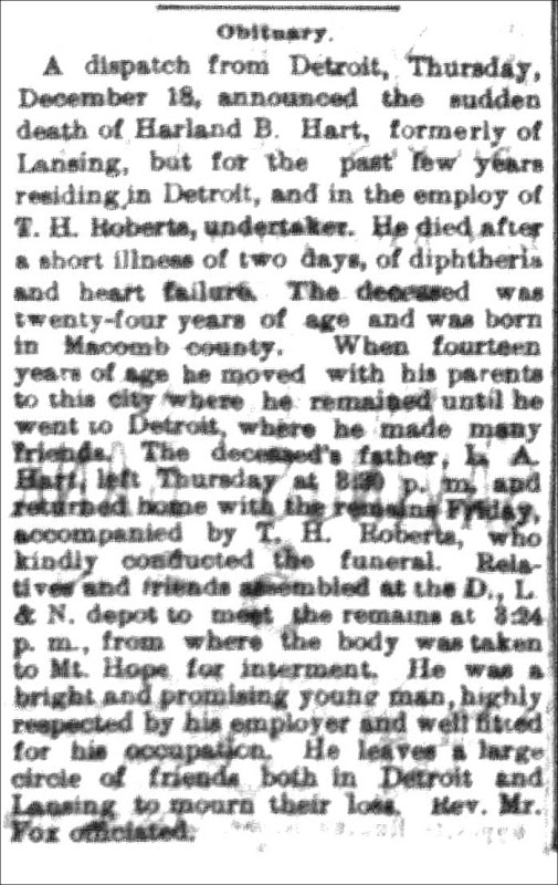 HART_Harland B_obit_The State Rep_20 Dec 1890_enh