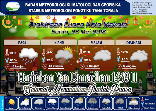 BMKG: Hari ini Hujan Akan Mengguyur Wilayah Tana Toraja dan Toraja Utara