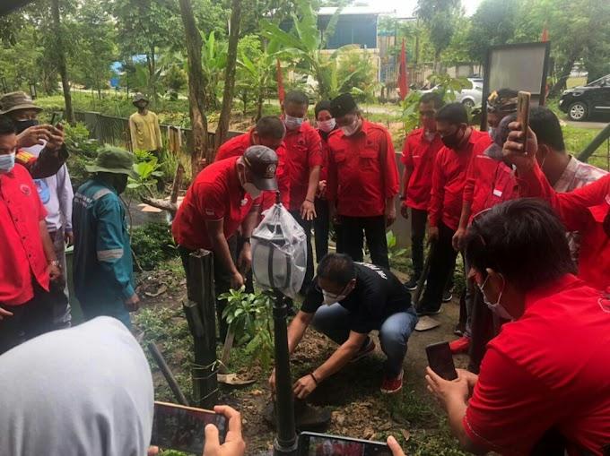 Ulang Tahun ke-48, PDI Perjuangan Balikpapan Tanam 448 Pohon