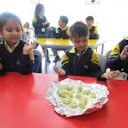 Potato Ball Making Activity (Sr.KG.) 22-2-2016