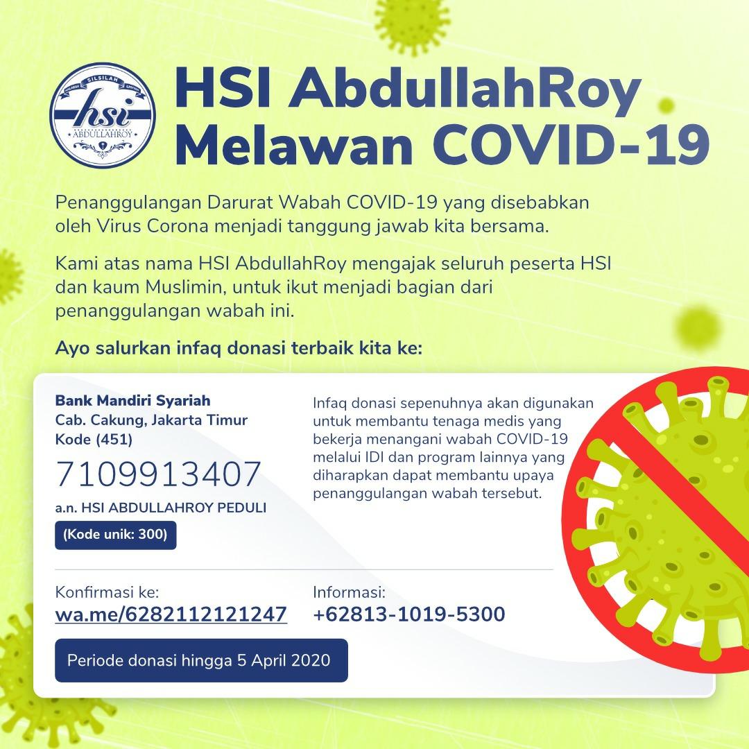 Mari Tanggulangi wabah Covid-19 bersama HSI Abdullah Roy