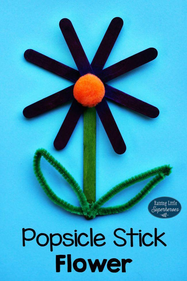 DIY Popsicle Stick Flower