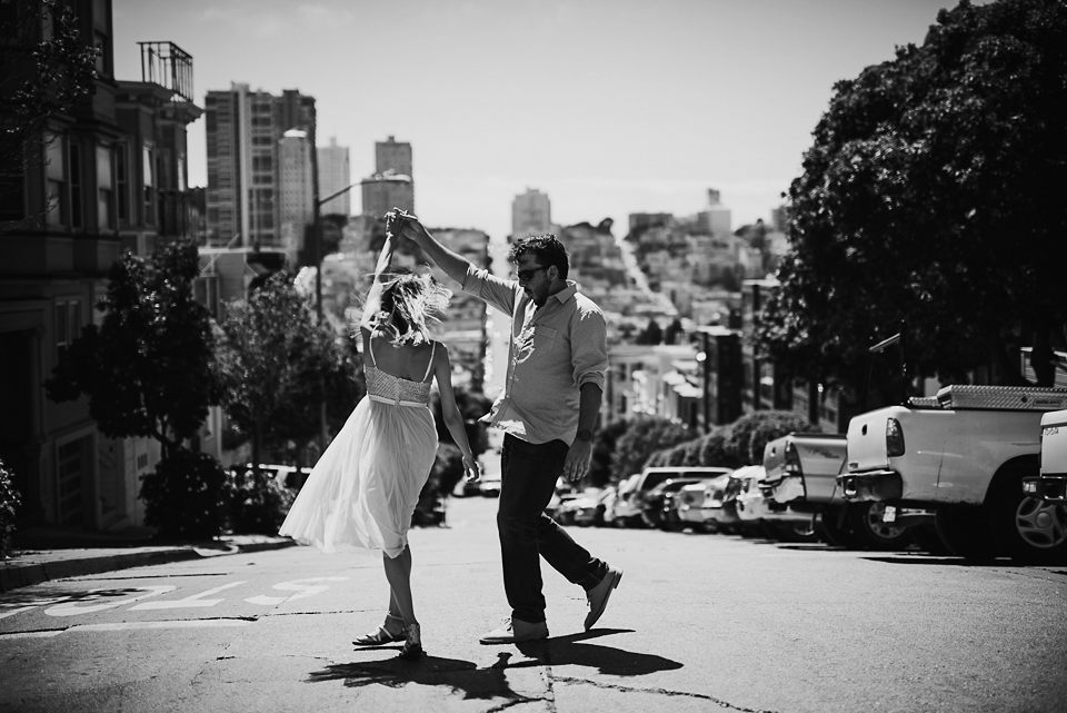 Coit Tower Engagement Photos