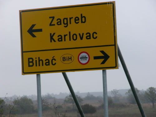 Bosnia is not far from any border crossing with Croatia.