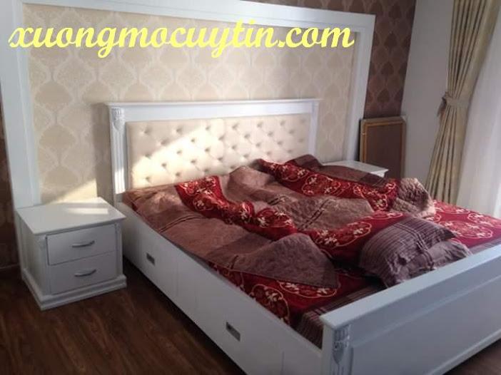 giường ngủ nệm đầu giường