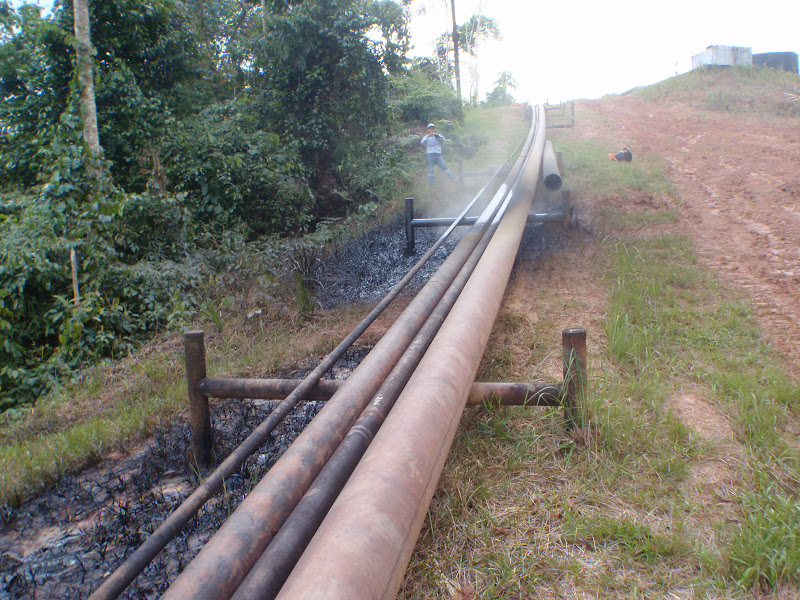 A pipeline rupture on August 27 2010 near the community of Antioquía in Block 1-AB