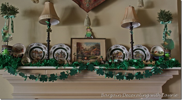 St Patrick's Mantel-Bargain Decorating with Laurie