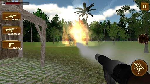 近代的な軍のコマンドーのシューティングゲーム attack