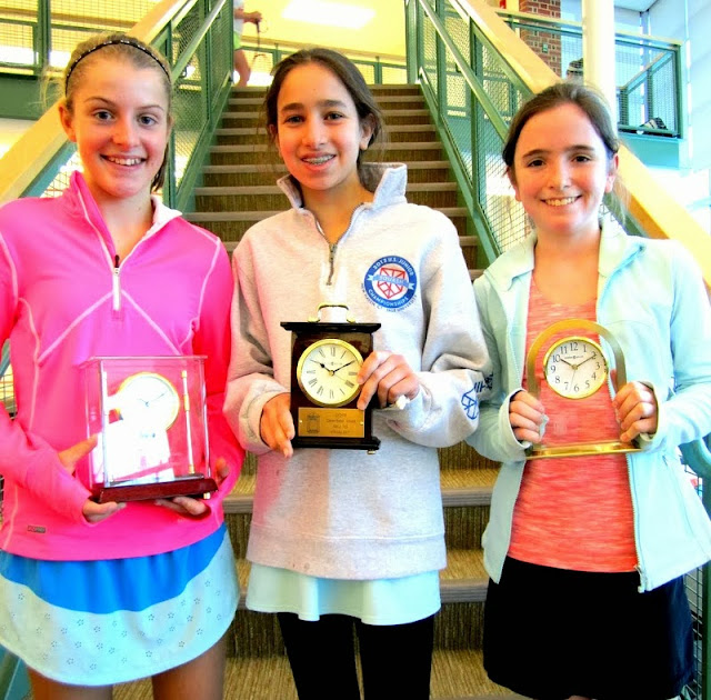 GU 13 winner Binney Huffman, finalist Katherine Glaser, and 3rd place finisher Julia Curran