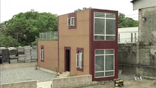 Construction company uses shipping containers to build houses
