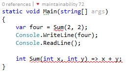 Visual Studio indicando que existen errores sintácticos