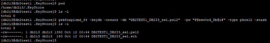 DB2 Local Keystore